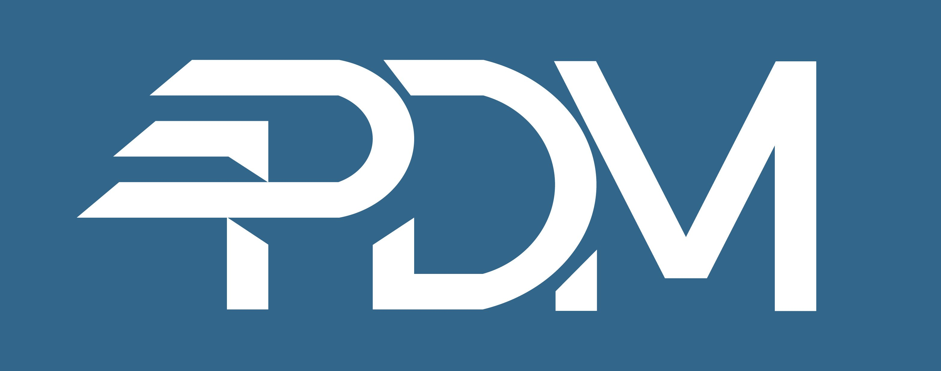 PDM Logo Files-white on blue
